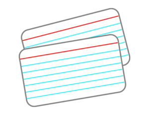 Two flashcards
