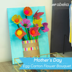 Egg Carton Flower Bouquet