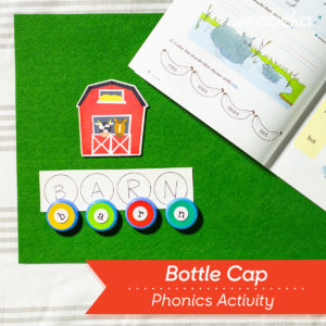 Bottle Cap Phonics Activity