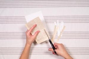 Cut strips of paper