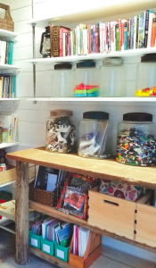 garage for homeschool space