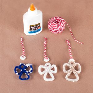 Salt crystal angel ornaments